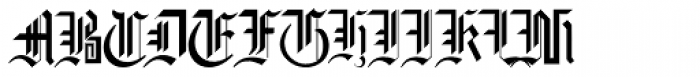 Gothic16 CG Font UPPERCASE