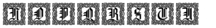 Gothic16 CGDecorative Lined Font UPPERCASE