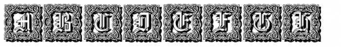 Gothic16 CGDecorative Shadow Font UPPERCASE