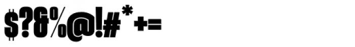 Gothiks Condensed Black Regular Font OTHER CHARS