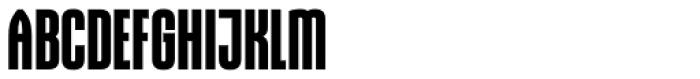Gothiks Condensed Bold Regular Font UPPERCASE
