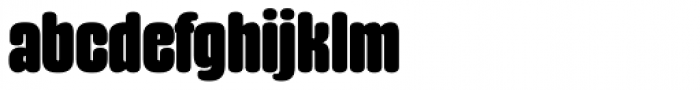 Gothiks Round Black Font LOWERCASE
