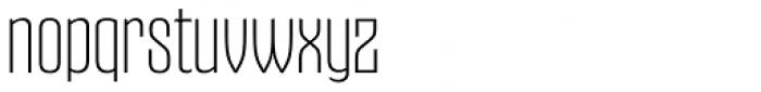 Gothiks Super Light Font LOWERCASE