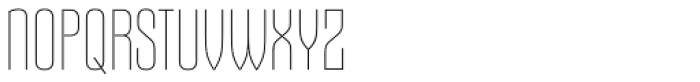 Gothiks Ultra Light Font UPPERCASE