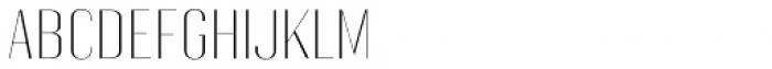 Gothink Extra Light Semi Expanded Font UPPERCASE