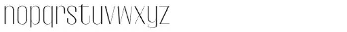 Gothink Extra Light Semi Expanded Font LOWERCASE