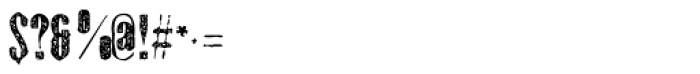 Gothink Extrabold Aged Font OTHER CHARS
