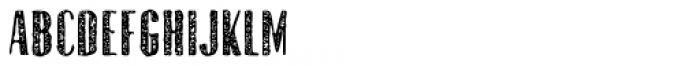 Gothink Extrabold Aged Font UPPERCASE
