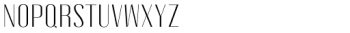 Gothink Light Semi Expanded Font UPPERCASE