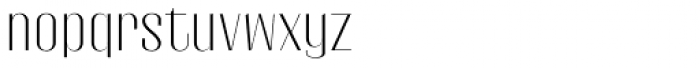 Gothink Light Semi Expanded Font LOWERCASE