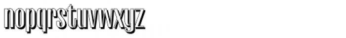 Gothink Shadow Font LOWERCASE