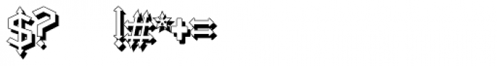 Gotica Moderna Shadow Font OTHER CHARS