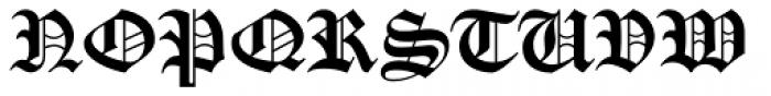 Gotico Black Font UPPERCASE