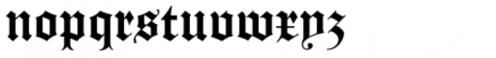 Gotico Black Font LOWERCASE