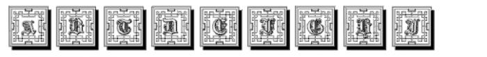 Gotische Frame Shadow Font LOWERCASE