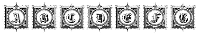 Gotische2 Frames Font UPPERCASE
