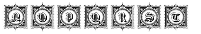 Gotische2 Frames Font LOWERCASE