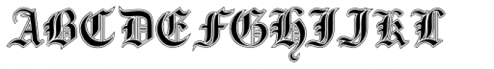 Gotische2 Lined Font UPPERCASE