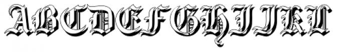 Gotische2 Shadow Font UPPERCASE
