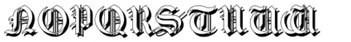 Gotische2 Shadow Font LOWERCASE
