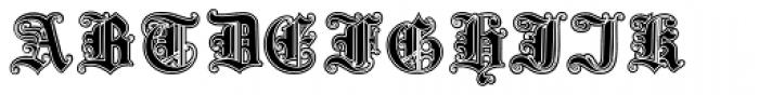 Gotische3 Lined Font UPPERCASE
