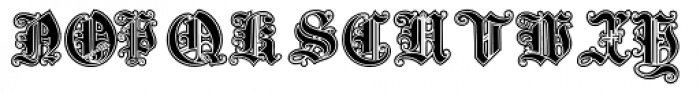 Gotische3 Lined Font LOWERCASE