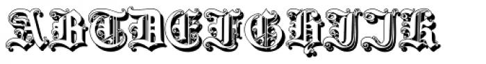 Gotische3 Shadow Font UPPERCASE