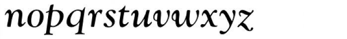 Goudy Catalogue MT Italic Font LOWERCASE