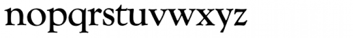 Goudy Catalogue SH Reg Font LOWERCASE