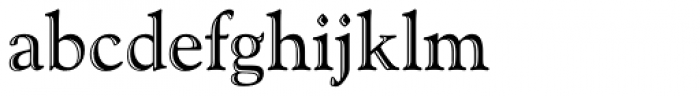 Goudy Handtooled Font LOWERCASE