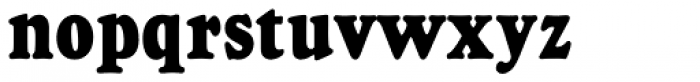 Goudy Heavyface D Condensed Font LOWERCASE