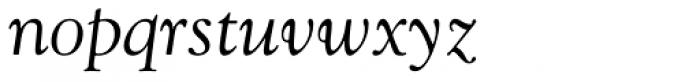 Goudy Italic Font LOWERCASE
