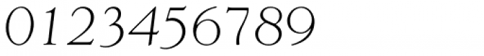 Goudy Light Italic Font OTHER CHARS