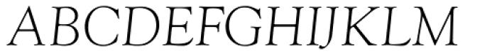 Goudy Light Italic Font UPPERCASE