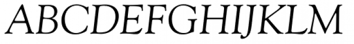 Goudy Old Style Italic Font UPPERCASE