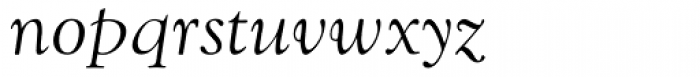 Goudy Old Style MT Italic Font LOWERCASE