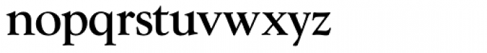 Goudy Series Light Font LOWERCASE