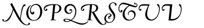 Goudy Swash Regular Italic Font UPPERCASE