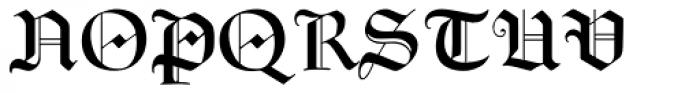 Goudy Text MT Std Font UPPERCASE