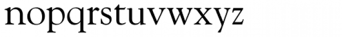Goudy Font LOWERCASE