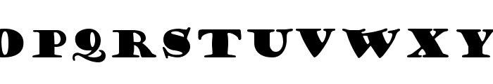 Goudy Stout Font UPPERCASE