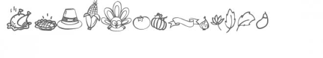 gobbie thanksgiving dingbats Font UPPERCASE