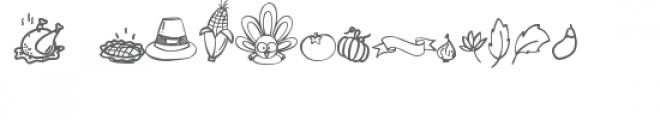 gobbie thanksgiving dingbats Font LOWERCASE