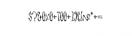Goitre (plain) Font OTHER CHARS