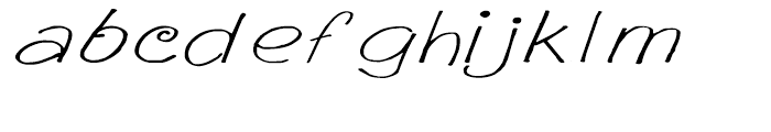 GP Casual Script Expanded Font LOWERCASE