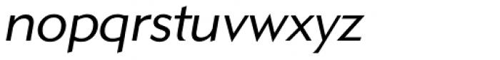 GPMetro Light Oblique Font LOWERCASE