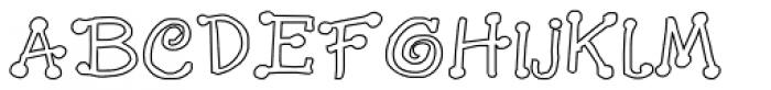 GP_Leonardo Outline Font UPPERCASE