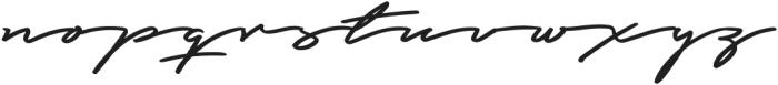 Graced Script otf (400) Font LOWERCASE