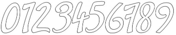 Gracia Oblique Outline otf (400) Font OTHER CHARS