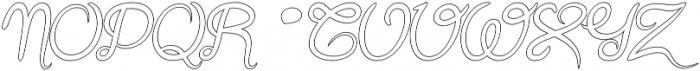 Gracia Oblique Outline otf (400) Font UPPERCASE